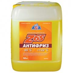 044 Антифриз, готовый к применению, желтый, -65С 10 литров ANTIFREEZE AGA-Z65, PREMIX
