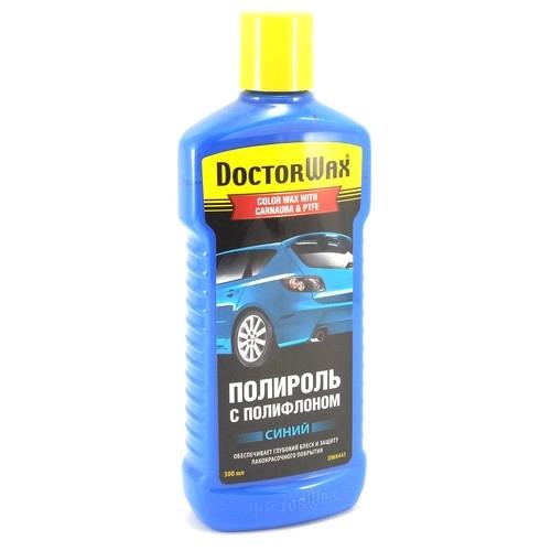 8441 DW Цветная полироль с полифлоном. Синяя DOCTOR WAX DARK BLUE / COLOR WAX WITH