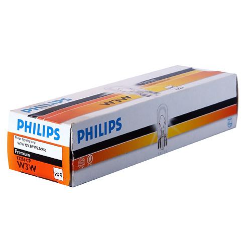 Автолампа 12V W3W W2,1X9,5d Philips 12256СР