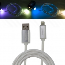 CBL750-U8-10W Кабель-переходник светящийся USB-8pin белый WIIIX 1м