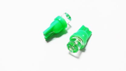 T10-1LED (12) Лампа светодиодная 12V W5W W2.1*9.5d 1-LED Зеленая
