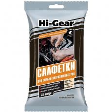 5585 HG Cалфетки для сильно загрязненных рук Hi Gear HEAVY DUTY HAND CLEANING WIPES