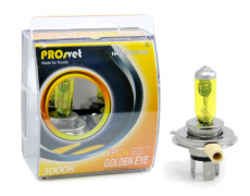 Лампа накаливания электрическая галогенная H4 24v75/70w P43t, YELLOW МОДЕЛЬ H4 (PROSVET)