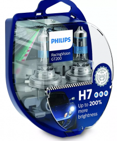 12972RGTS2 Автолампа 12V H7 PX26d55W (комплект 2шт) Racing Vision GT-200 Philips