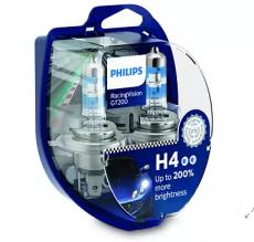 12342RGTS2 Автолампа 12V H4 P43t 60/55W (комплект 2шт) Racing Vision GT-200 Philips