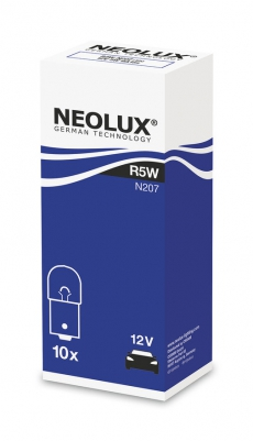 N207 Автолампа 12V R5W BA15s (одноконт.) Neolux