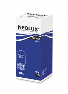 N580 Автолампа 12V W21/5W W3x16Q (безцокольная) Neolux