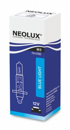 N448B_DuoBox Автолампа H1 55W 12V P14.5S Blue (2 шт) Neolux