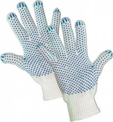 Перчатки х/б с ПВХ 4-нитка