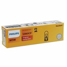 Автолампа 12V W5W W2,1x9,5d (бесцокольная) Philips 12961